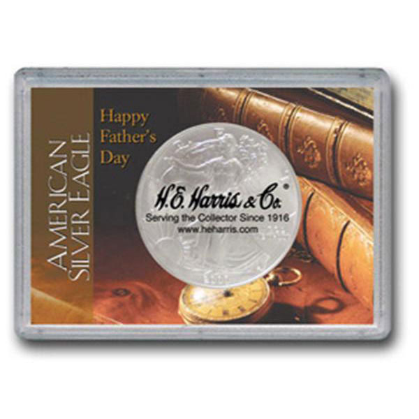 H.E. Harris Frosty Case - 2x3, Silver Eagle Fathers Day