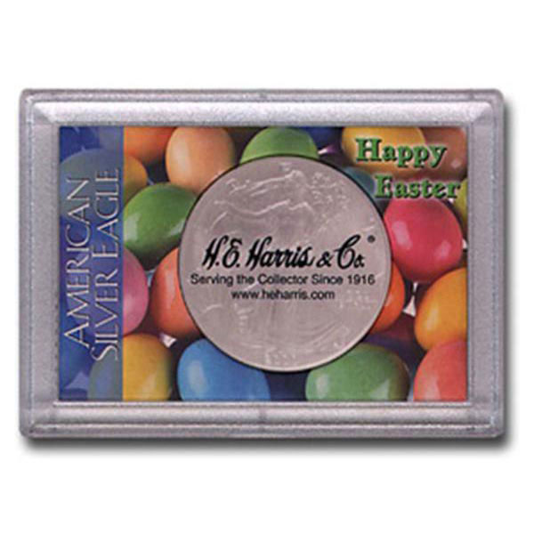 H.E. Harris Frosty Case - 2x3, Silver Eagle Easter