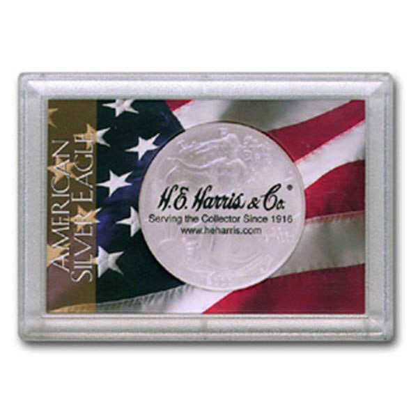 H.E. Harris Frosty Case - 2x3, Silver Eagle Flag