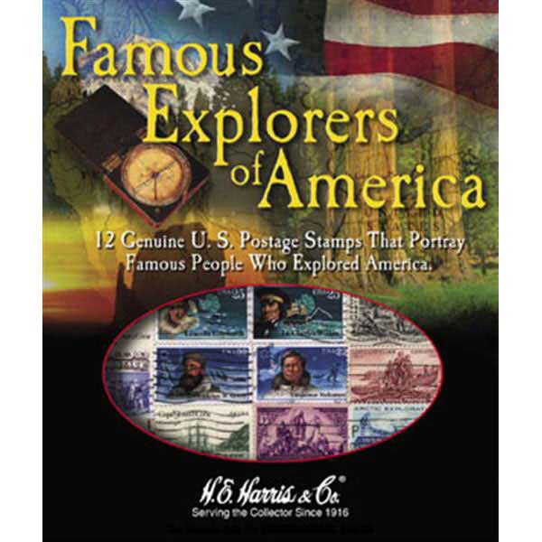 Stamp Pack, Famous Explorers of America