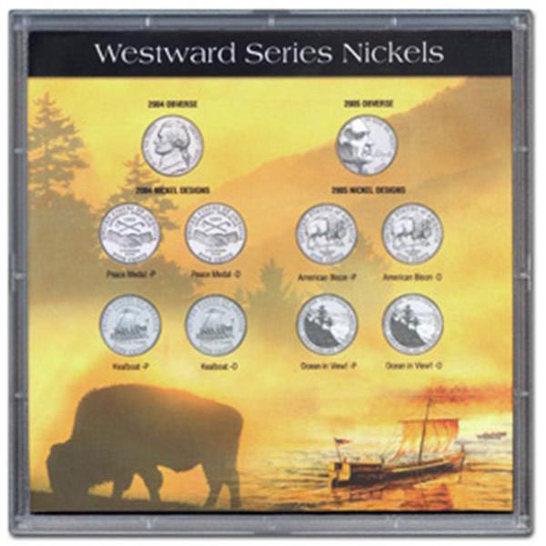 H.E. Harris Frosty Case - 6x6, Jefferson Nickel Westward Journey 10-Hole