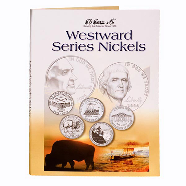 H.E. Harris Coin Folder - Jefferson Nickels Westward Journey 2004-06