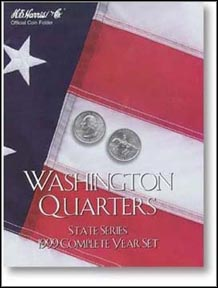 H.E. Harris Coin Folder - State Quarters, 1999