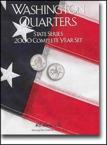 H.E. Harris Coin Folder - State Quarters, 2000