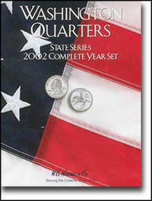 H.E. Harris Coin Folder - State Quarters, 2002