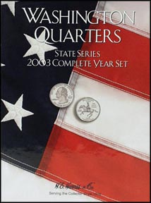 H.E. Harris Coin Folder - State Quarters, 2003