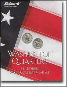 H.E. Harris Coin Folder - State Quarters, 2004