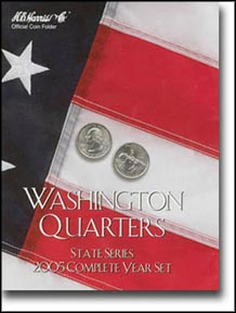 H.E. Harris Coin Folder - State Quarters, 2005