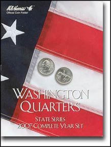 H.E. Harris Coin Folder - State Quarters, 2007