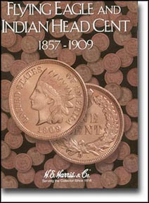 H.E. Harris Coin Folder - Flying Eagle & Indian Cents