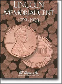 H.E. Harris Coin Folder - Lincoln Memorial Cents vol 1