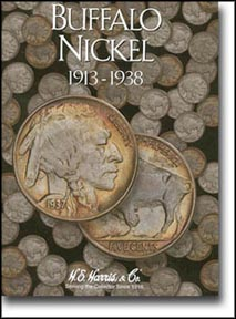 H.E. Harris Coin Folder - Buffalo Nickels 1913-38