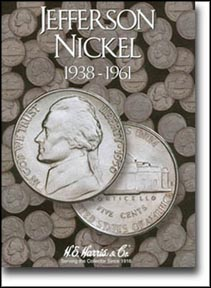 H.E. Harris Coin Folder - Jefferson Nickels vol 1 1938-1961