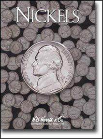 H.E. Harris Coin Folder - Nickels, Plain