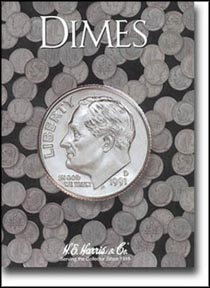 H.E. Harris Coin Folder - Dimes, Plain