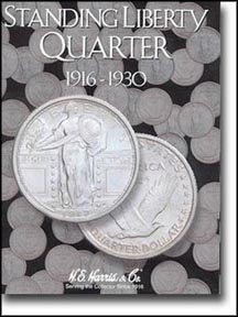 H.E. Harris Coin Folder - Standing Liberty Quarters