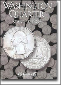 H.E. Harris Coin Folder - Washington Quarters #4 1988-98