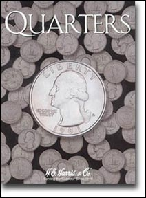H.E. Harris Coin Folder - Quarters, Plain