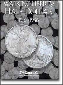 H.E. Harris Coin Folder - Walking Liberty Half Dollars vol 1 1916-36