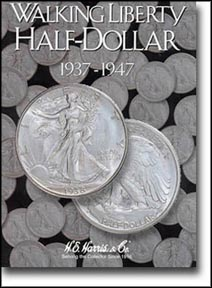 H.E. Harris Coin Folder - Walking Liberty Half Dollars vol 2 1937-47