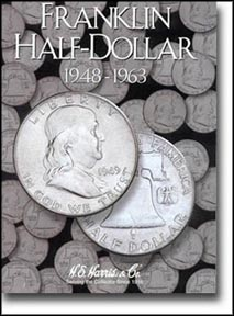 H.E. Harris Coin Folder - Franklin Half Dollars 1948-63