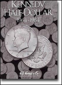 H.E. Harris Coin Folder - Kennedy Half Dollars vol 1 1964-84