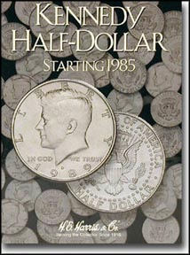 H.E. Harris Coin Folder - Kennedy Half Dollars vol 2 1985-99