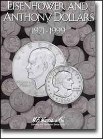 H.E. Harris Coin Folder - Eisenhower & Anthony Dollars 1971-81,99