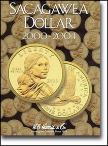 H.E. Harris Coin Folder - Sacagawea Dollars 2000-2004