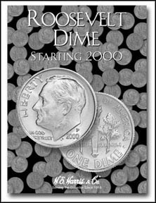 H.E. Harris Coin Folder - Roosevelt Dimes 3 2000-2013