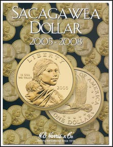 H.E. Harris Coin Folder - Sacagawea Dollars 2005-2008