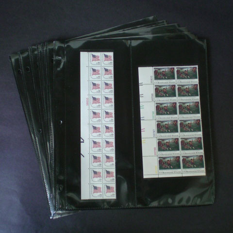 Supersafe Mint Sheet Refill Pages and Binders - MPV Vertical Two Pocket Pages