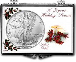 1999 Christmas Candles American Silver Eagle Gift Display THUMBNAIL