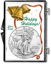 2010 Happy Holidays American Silver Eagle Gift Display THUMBNAIL