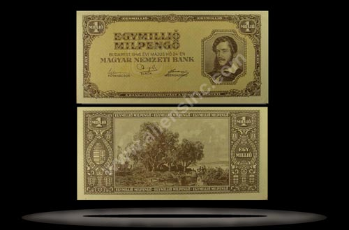 Hungary Banknote, 1 Million Milpengo, 24.5.1946, P#128