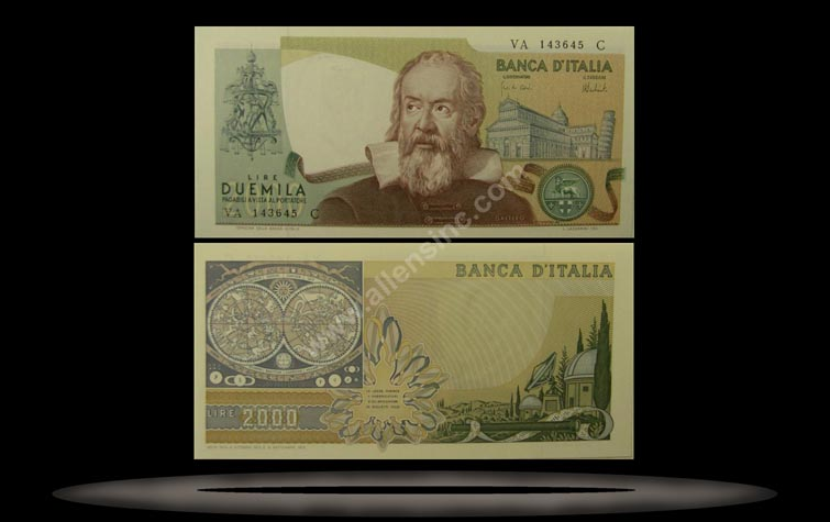 Italy Banknote, 2000 Lire, 8.10.1973, P#103a