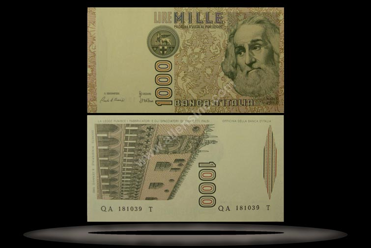 Italy Banknote, 1000 Lire, 6.1.1982, P#109a