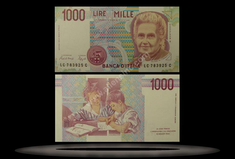 Italy Banknote, 1000 Lire, D.1990, P#114c