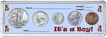 1942 It's A Boy! Coin Gift Set THUMBNAIL
