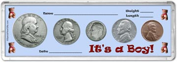1948 It's A Boy! Coin Gift Set THUMBNAIL