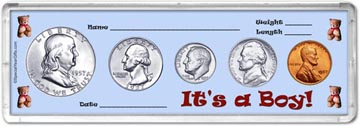 1957 It's A Boy! Coin Gift Set THUMBNAIL