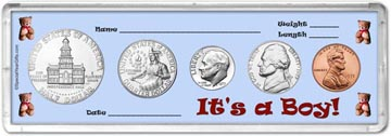 1975 It's A Boy! Coin Gift Set THUMBNAIL