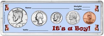 1988 It's A Boy! Coin Gift Set THUMBNAIL