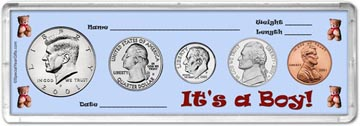 2001 It's A Boy! Coin Gift Set THUMBNAIL