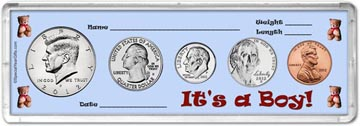 2012 It's A Boy! Coin Gift Set THUMBNAIL