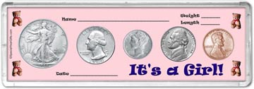 1944 It's A Girl! Coin Gift Set THUMBNAIL