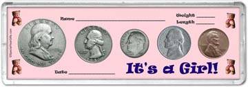 1950 It's A Girl! Coin Gift Set THUMBNAIL