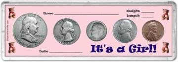 1954 It's A Girl! Coin Gift Set THUMBNAIL