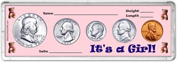 1957 It's A Girl! Coin Gift Set THUMBNAIL