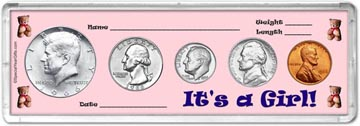 1966 It's A Girl! Coin Gift Set THUMBNAIL